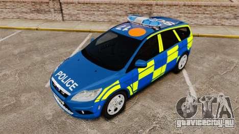 Ford Focus Estate 2009 Police England [ELS] для GTA 4 вид сбоку