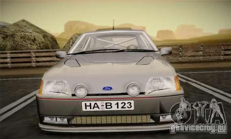 Ford Fiesta Mk3 XR2i для GTA San Andreas