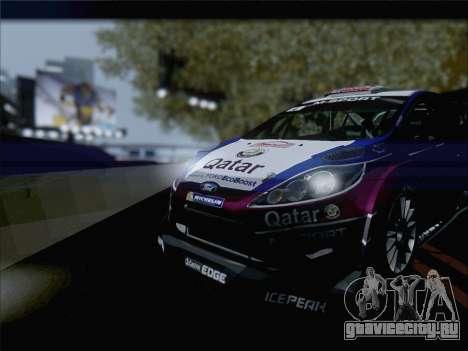 Ford Fiesta RS WRC 2013 для GTA San Andreas вид сзади слева