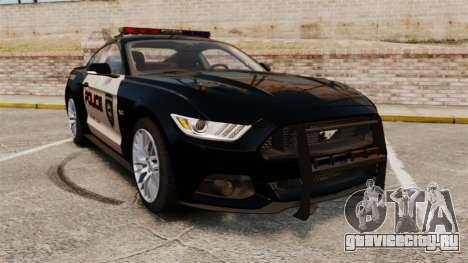 Ford Mustang GT 2015 Police для GTA 4