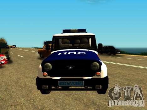 УАЗ Хантер ППС для GTA San Andreas вид сзади
