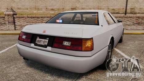 Admial Unmarked Police v1.4 [ELS] для GTA 4 вид сзади слева