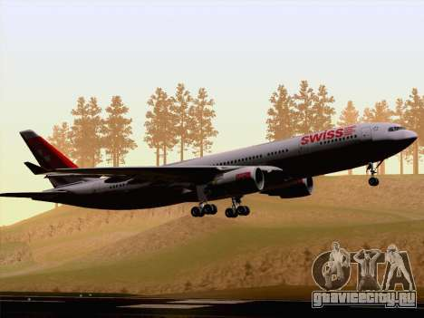 Airbus A330-223 Swiss International Airlines для GTA San Andreas вид сзади