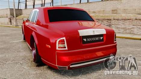 Rolls-Royce Phantom Mansory для GTA 4 вид сзади слева