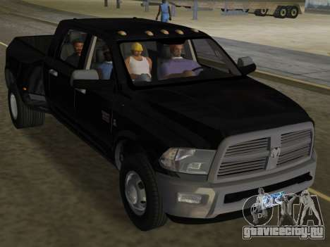 Dodge Ram 3500 Laramie 2012 для GTA Vice City вид сверху