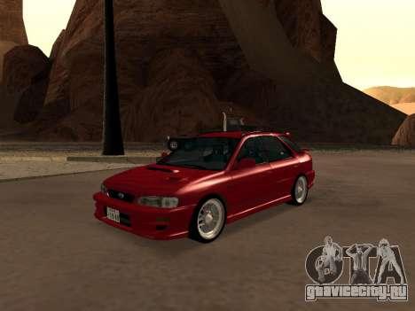 Subaru Impreza Wagon для GTA San Andreas вид сзади
