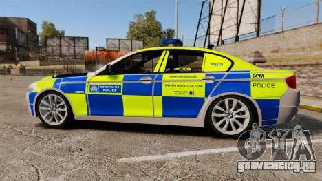 BMW 550i Metropolitan Police [ELS] для GTA 4 вид слева