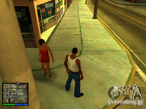 Пак скинов девушек для GTA San Andreas седьмой скриншот