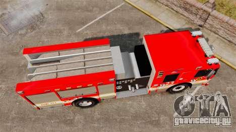 Division on Fire Columbus Firetruck [ELS] для GTA 4 вид справа