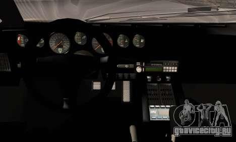 Lamborghini Countach 25th Anniversary для GTA San Andreas вид снизу