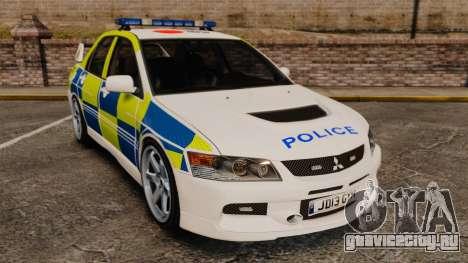 Mitsubishi Lancer Evolution IX Uk Police [ELS] для GTA 4