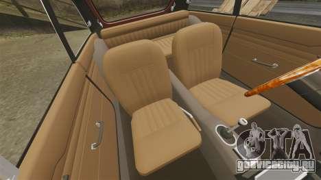 MG MGB GT 1965 для GTA 4 вид изнутри