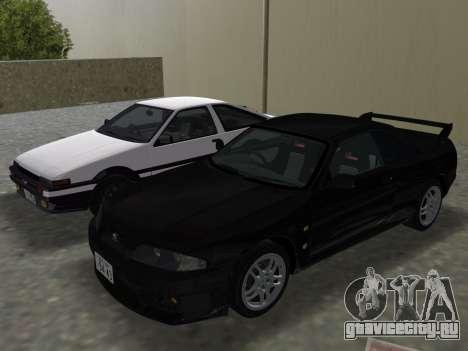 Nissan SKyline GT-R BNR33 для GTA Vice City двигатель