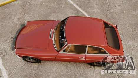 MG MGB GT 1965 для GTA 4 вид справа