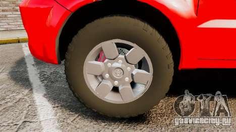 Toyota Hilux Finnish Military Police [ELS] для GTA 4 вид сзади