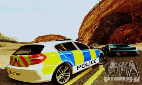 BMW 120i SE Police для GTA San Andreas вид сзади