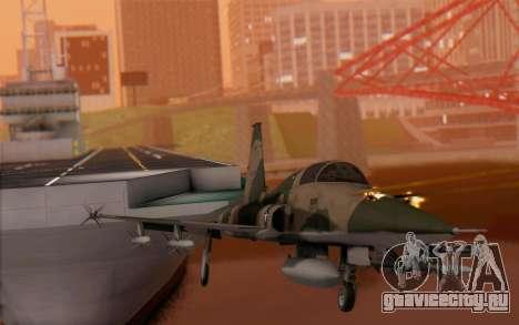 F-5 Tiger II для GTA San Andreas вид сзади