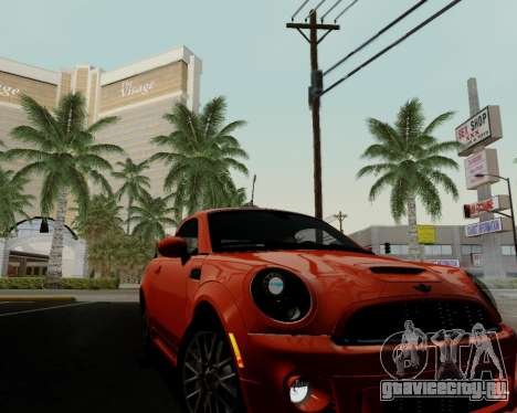 MINI Cooper S 2012 для GTA San Andreas вид снизу