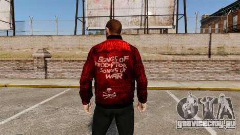 Красная кожаная куртка для GTA 4 второй скриншот