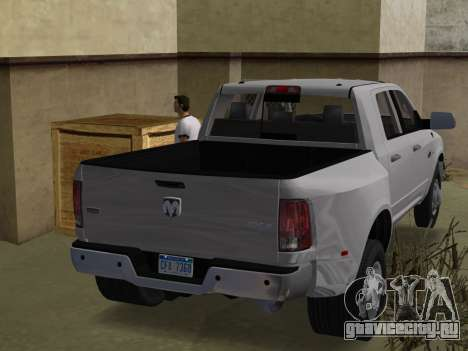Dodge Ram 3500 Laramie 2012 для GTA Vice City вид слева
