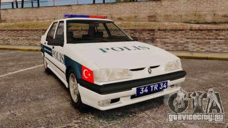 Renault 19 Turkish Police для GTA 4