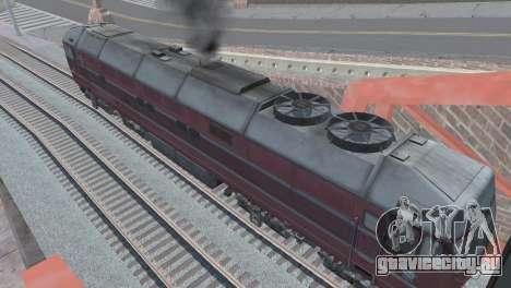 ТЭП80-0002 для GTA San Andreas вид снизу