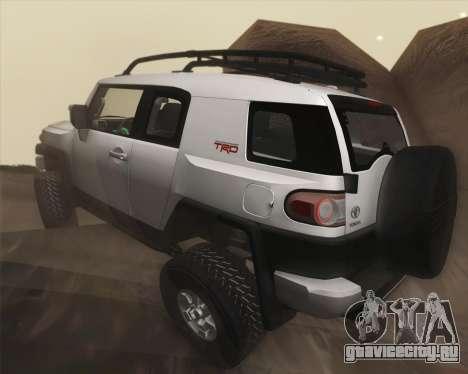 Toyota FJ Cruiser 2012 для GTA San Andreas вид сверху