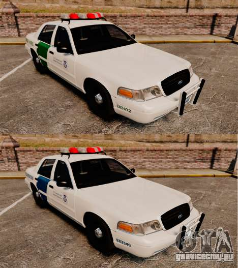 Ford Crown Victoria 1999 U.S. Border Patrol для GTA 4 вид изнутри