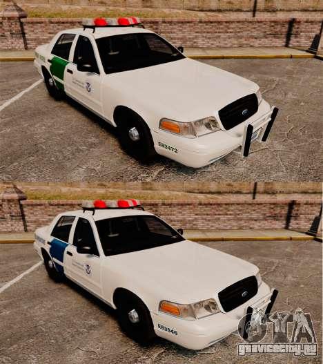 Ford Crown Victoria 1999 U.S. Border Patrol для GTA 4 вид изнутри