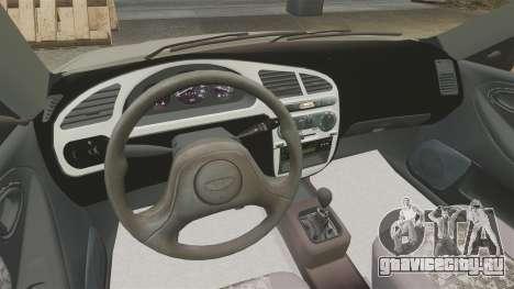 Daewoo Lanos S PL 2001 для GTA 4 вид изнутри