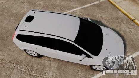 Ford Focus Estate 2009 Unmarked Police [ELS] для GTA 4 вид справа