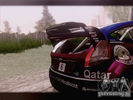 Ford Fiesta RS WRC 2013 для GTA San Andreas вид сверху