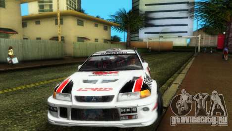 Mitsubishi Lancer Rally для GTA Vice City вид сзади