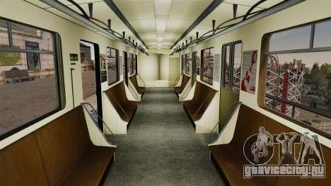Головной вагон метрополитена модели 81-717 для GTA 4 второй скриншот