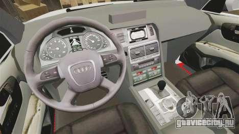 Audi Q7 Enforcer [ELS] для GTA 4 вид сзади