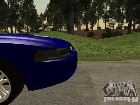 Ford Mustang GT 1999 для GTA San Andreas вид сзади