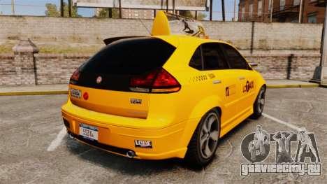Habanero Taxi для GTA 4 вид сзади слева
