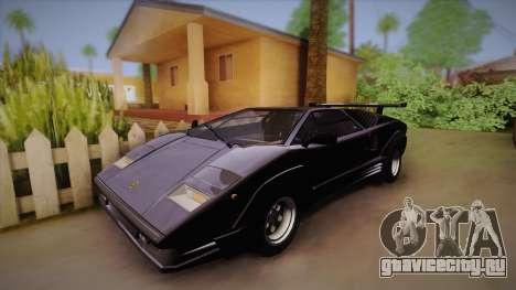 Lamborghini Countach 25th Anniversary для GTA San Andreas вид сзади