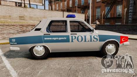Renault 12 Turkish Police для GTA 4 вид слева