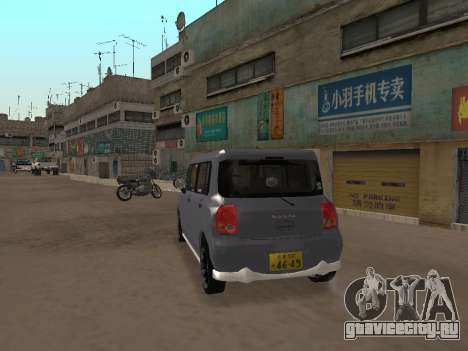 Suzuki Alto Lapin для GTA San Andreas вид справа