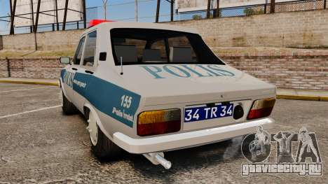 Renault 12 Turkish Police для GTA 4 вид сзади слева