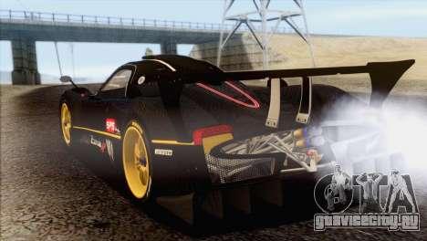 Pagani Zonda R SPS v3.0 Final для GTA San Andreas вид слева