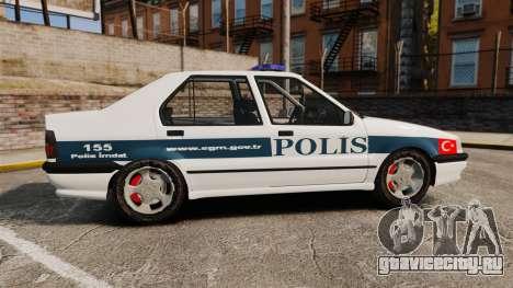 Renault 19 Turkish Police для GTA 4 вид слева