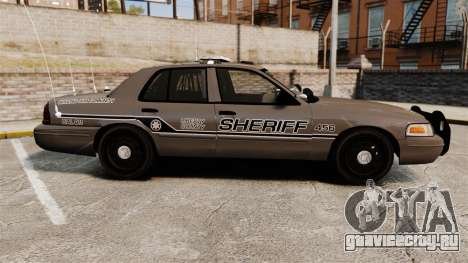 Ford Crown Victoria 2008 Sheriff Patrol [ELS] для GTA 4 вид слева