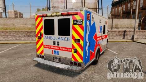 Brute Liberty Ambulance [ELS] для GTA 4 вид сзади слева