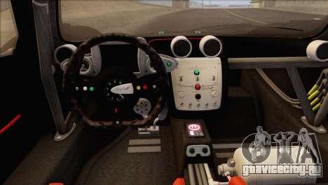 Pagani Zonda R SPS v3.0 Final для GTA San Andreas вид изнутри