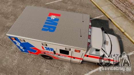 Brute Liberty Ambulance [ELS] для GTA 4 вид справа