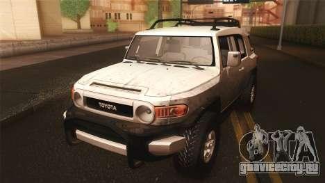 Toyota FJ Cruiser 2012 для GTA San Andreas вид изнутри