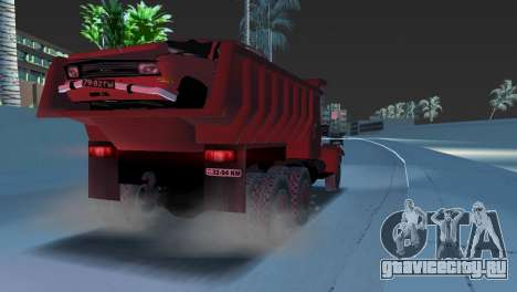 Краз 255 Самосвал для GTA Vice City вид справа
