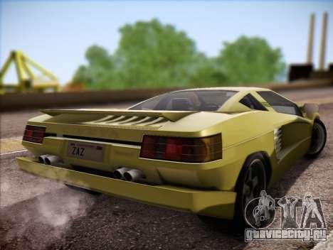 Cizeta Moroder V16T 1988 для GTA San Andreas вид слева